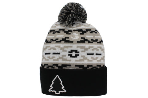 grey and black aztec beanie