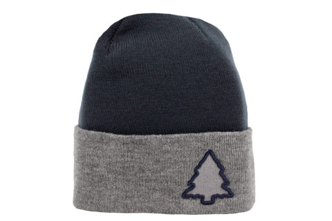 navy and grey classic beanie