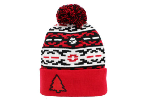 red and black aztec beanie