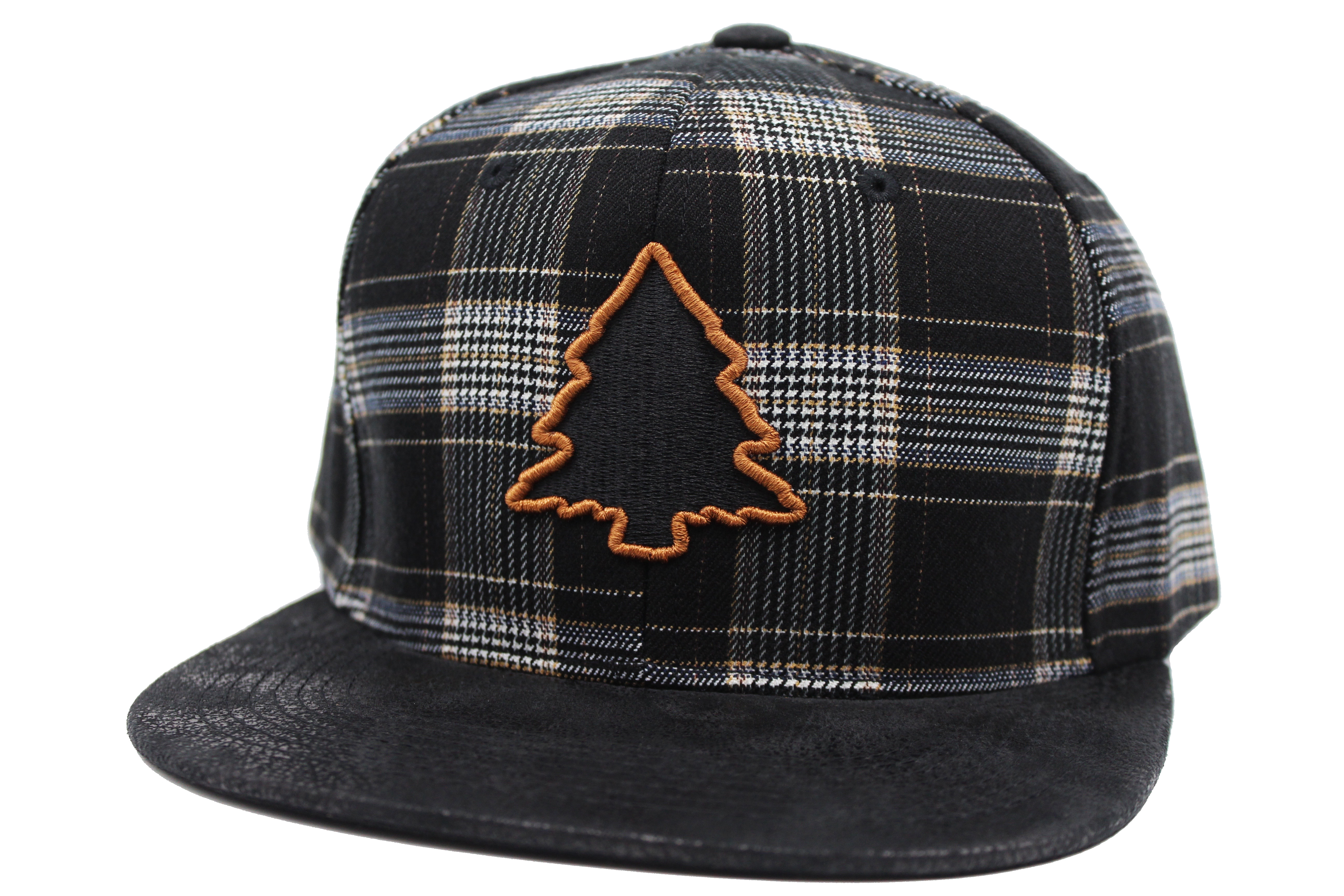 b816839a24c807 Fresh Brown Plaid & Leather Hat | Fresh Air Clothing